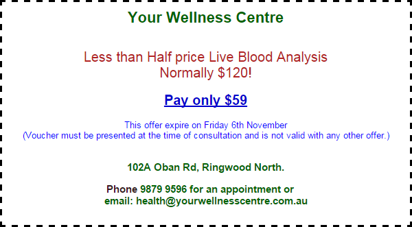 Your Wellness Centre Live Blood Analysis